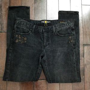 Lucky Brand Sienna Slim Boyfriend Black Jeans